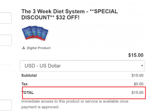 3 week diet discount price 300x227 - Get Access Now! JUST $47.00