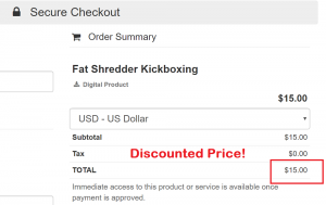 Fat Shredder Kickboxing discounted price 300x189 - $20 Discount - Grand Opening Special for ONLY $15
