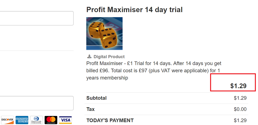 profit maximiser discount price - Profit Maximiser 14 day trial for JUST £1